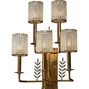 Maitland Smith Five Arm Brass Wall Sconce