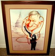 Original Signed Painting Of Will Rogers By Roman Genn National Review Artist