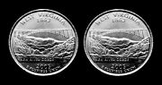 2005 P + D West Virginia Us State Quarters Two Coins Set Bu From Mint Rolls