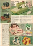 Vintage 1975 Toy Sewing Machines Baby Doll Strollers Print Ad Clipping