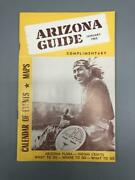 Arizona Guide January 1962 Complimentary Calendar Of Events Indian Crafts