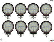 8x Powerful 39w Led 4.7'' Round Led Work Lights 12v 24v Lamps For Lorry Trailer