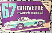 1967 Corvette C2 Owners Manual 1/2 Card 2nd Edition Chevrolet 5.3l 7.0l V8
