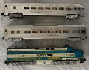 American Flyer 466 Blue Comet Passenger Locomotive And Train Cars Very Nice