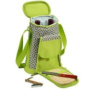 D Wine And Cheese Cooler, Picnic Backpack Bag, For Outdoor Gray