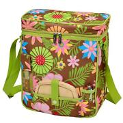 D Wine And Cheese Cooler Tote, Picnic Backpack Bag For Outdoor Floral