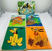 1970's-80's Playskool And Jaymar Disney Puzzles All Complete In Good Condition