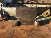 Very Old French Blacksmith Anvil Marked Aubry 633 Lbs