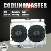 Aluminum Radiator Andshroud And12and039and039 Fans For Ford Mustang Torino 67-70 Big Block V8