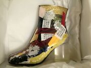 Maison Margiela Patchwork Ankle Boots Limited Edition Numbered 097/200 Size 38/8