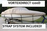 New Vortex Super Heavy Duty 1200d Beige/tan 16and039 Fishing/ski/runabout/boat Cover