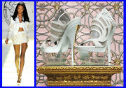 S/s 2012 New Versace White Leather And Plexiglass Platform Shoes 40 - 10