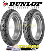 Dunlop D404 Front And Rear Tire Set 100/90-19 And 150/80-16 Blackwall - 2 Tires