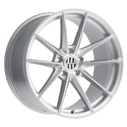 Victor Equipment Zuffen 20x11 +55 Silver W/ Brushed Face Wheel 5x130 Qty 4