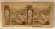 Vintage Stereoview Street View Of Rome Italy Collectible 1897 Litho Photo L27