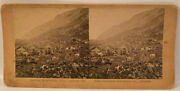 Vintage Stereoview A Goat Farm Collectible Litho Photo L24