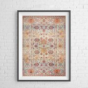 Lotus Trader - Arabesque Clouds Pattern Poster Picture Print Sizes A5 To A0 New