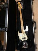 Fender Made In Usa Jazz Bass 2009 Left Handed Black Electric Guitar S/n Z9478449
