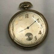Pocket Watch-a.w.w.-waltham-gf Case-17 J- Needs Cleaning And Crystal- Sold As Is