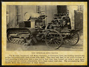 1912 Western Implement And Motor Co. New Metal Sign Caterpillar Tractor Davenport
