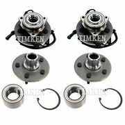 New Front And Rear Wheel Bearing And Hub Assembly Kit Timken For Ford Mercury Rwd