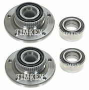 Front And Rear Wheel Bearings And Hubs Kit Timken For Bmw E36 318i 325i E85 Z4 Rwd