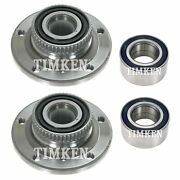 Front And Rear Wheel Bearings And Hubs Kit Timken For Bmw E31 840ci 850i E36 M3 Rwd