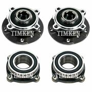 Front And Rear Wheel Bearings And Hubs Kit Timken For Bmw E63 E64 645ci 650i Rwd