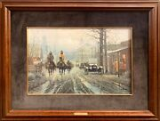 G. Harvey Signed Limited Edition Print Too Wet To Plow 343/1000 Framed