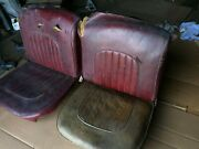 Jaguar Mark 2 Right And Left Front Seat Backs, Frames And Bottoms Or Squabs
