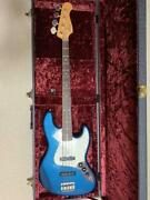 History Th-bj4 / R Blue Rare Electric Bass Guitar Shipped From Japan