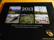 2013 P And D Us Mint America The Beautiful Uncirculated 10 Coin Quarter Set