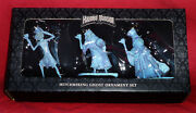 Disney Parks Haunted Mansion Hitchhiking Ghosts 3 Ornament Set - New In Box