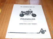 Wow Vintage Arctc Cat Prowler Minibike Parts List  Very Kool Reproducton