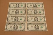 8 Consecutive Series 1993 H 100 Dollar Bills Mint Condition Low Serial Rare 100
