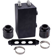 Racing Oil Catch Can Breather Tank For Honda Civic Integra 4 Port Series 10an