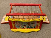 Vintage 1964 Fisher Price 900 Big Performing Circus - Wagon W/ Extra Animals
