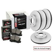 Centric 906.37093 Metallic Front And Rear Disc Brake Pad And Rotor Kit