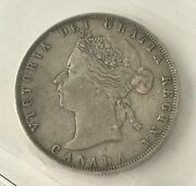 1872h Victoria 50 Cents Can • Inverted A/v • Grade Vf-20