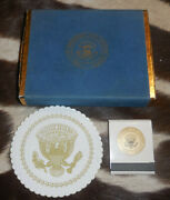 Very Rare Jfk Air Force One Cards And Matchbook Unused