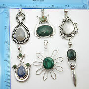 New Item Wholesale Purchase 925 Silver Plated 6pcs Pendants On Trend