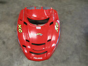 2001 01 Polaris Indy 600 Edge Xc Snowmobile Red Front Hood Cover Decals