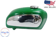 Bmw R75 5 Toaster Green Painted Petrol Tank 1969-73 Model And Side Plates fit For