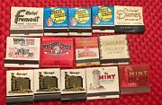 Vtg Very Rare Las Vegas /lake Tahoe Casino Hotel Matchbooks Lot Of 14 Used And New