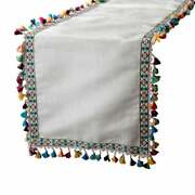 Multicolor Decorative Table Runners Easter Silk Lace Tassels - Joy World