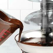 4-tier Stainless Steel Big Chocolate Fondue Fountain - Wow Effect For Any Event