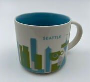 Starbucks You Are Here Collection Ceramic Coffee Mug Seattle 14 Floz 2015