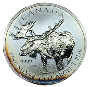 2012 Canadian Moose One Ounce .9999 Silver 5 Coin Bu