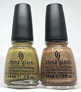 China Glaze Nail Polish Champagne Kisses 1114 + Angel Wings 1117 Gold And Copper