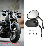 Motorcycle Black Mirrors Fit For Harleydavidson 2007 2008 2009 2010 2012 Softail